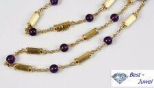 Halsketten und Anhänger mit echten Edelsteinen natürliche mit Amethyst-Hauptstein für Damen