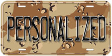 Personalized Camouflage Dessert Any Name Novelty Car Auto License Plate