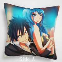 fairy tail gray natsu Lucy Anime Manga two sides Pillow Cushion Case Cover 992