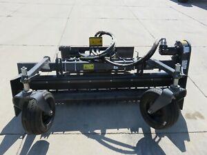 "Paladin Harley 72"" Skid Steer Loader Hydraulic Angle Power Box Rake Attachment"