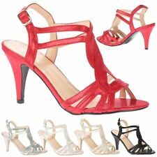 High (3-4.5 in.) Bridal or Wedding Synthetic Women's Heels