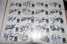 Spurs Feuille De Timbre 20 signé par différents acteurs, Hoddle, King Keane etc