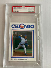 1987 Cubs David Berg Greg Maddux PSA 10