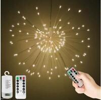 120/180 LED Feuerwerk Lichterkette Weihnachts Beleuchtung Außen Garten Batterie
