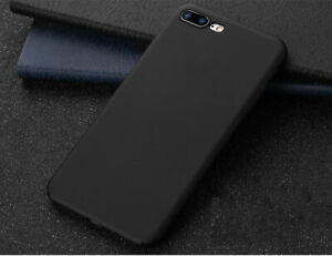Phone Case For iPhone 7 / 8 / X Matte Black Hybrid Hard Protective Back Cover