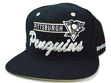 Pittsburgh Penguins Reebok NF91Z NHL Script Team Logo Snapback Hockey Cap Hat