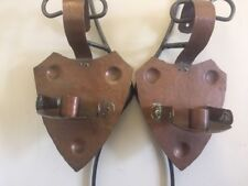 PAIR ARTS CRAFT HAND WROUGHT HAMMERED COPPER CANDLE SCONCES