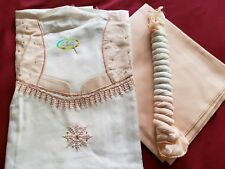 Indian Pakistani Punjabi unstitched cotton embroidery 3pc Salwar Kameez dupatta
