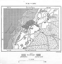 "ISRAEL "" CARTE MAP / TEL AVIV JAFFA "" GRAVURE ENGRAVING 1884"
