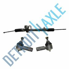 Complete Rack and Pinion Assembly + Set of (2) New Outer Tie Rod End Links