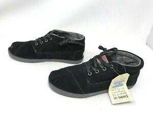 Mens toms Botas black suede shoes size 8.5 (BX5)