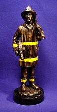 """12"""" Fireman ~ REAL Bronze METAL Finished ~ Statue, Figurine - FREE SHIPPING!"""