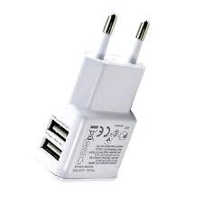 New 1.0A EU Plug Dual USB Universal Mobile Phone Charger AC Home Wall Charger