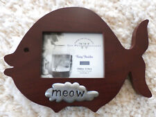"""FUZZY BUDDIES SERIES""  MEOW Photo Frame  (Weston Gallery in Rosewood + Pewter)"
