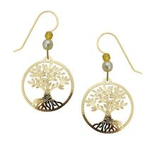 Sienna Sky Twisted Tree of Life Filigree Gold Plated Earrings with Gift Box USA