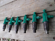VOLVO PENTA AQD40A DIESEL INJECTORS,SET OF 6, CLEAN, OFF USED RUNNING ENGINE