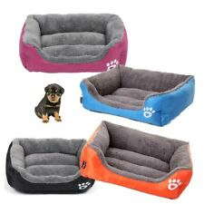 Dog Cat Bed House Soft Warm Fleece Cozy Cushion Pet Nest Cotton Mat Washable