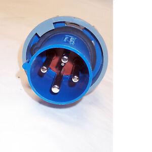 MENNEKES 1109A  4 PIN PLUG 63A-9H   200-250V   3P+  WATER/DUST RESISTANT
