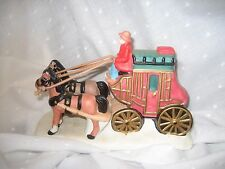Christmas village collectible stage coach and horses