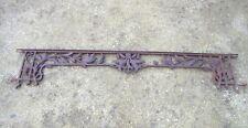 130 / 141 cm - Ancien garde corps art nouveau aux houx, en fonte