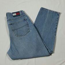 Tommy Hilfiger Jeans 36 x 30 Cotton 90s Flag Logo 5-Pocket Denim