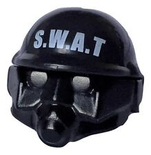 S.W.A.T. Police helmet with gas mask for Lego minifigure accessories