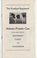 Vintage Brochure - Cow of Yesterday Today and Tomorrow - Holstein Association