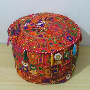 Indien Mandala Ottoman Pouffe 100%Cotton Fancy Home Decor pouffe Cover Indien
