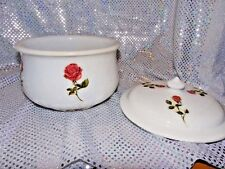 VINTAGE HOMER LAUGHLIN STONE CHINA SLOP POT/CHAMBER POT WITH LID (1D18)