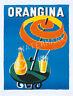 Unique Vintage Villemot Orangina Rare Advertising Print.Choice of 2 sizes
