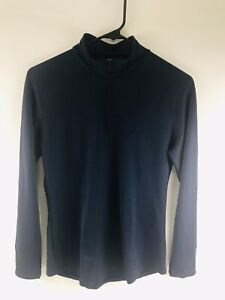 ASICS Women's Stretch 1/4 Zip Athletic Navy Blue Pullover Size Small