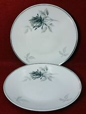 ROSENTHAL china 3489 Black Gray Rose Bread Plate - Set of Two (2) - 5-7/8""
