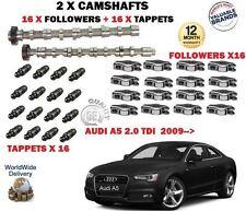 PER AUDI A5 2.0 TDI 2008-> 2X ALBERO A CAMME SET & 16x BILANCIERI + 16x PUNTERIE