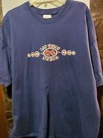 """Las Vegas Nevanda """"777"""" Mens Blue T Shirt Port & Company 2 XL """"777"""" Vegas"""