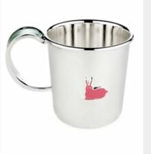AUTHENTIC Kate Spade New York LENOX PIPPIN PARK Silverplate/Enamel Baby Girl Cup