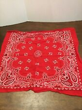 """Crafted With Pride In America Square Bandana Scarf Paisley Print RN14193 Red 20"""""""