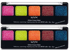 NYX Glitter Cream Palette color GCP02 Eden Brand 2 PACK
