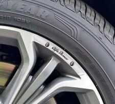 Alfa Romeo Alloy Wheel Badges Silver x4