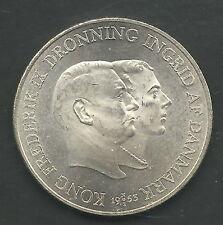 DENMARK,  1953,  2 KRONER,  SILVER,  UNCIRCULATED,  KM#844  (Y#63)