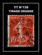 YT N°138 : TIRAGE ORANGE !!!