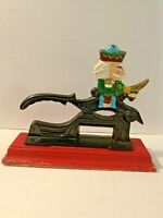 Vintage Paul Revere - Cast Iron Nutcracker with Soldier with original paint