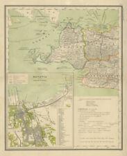 DUTCH EAST INDIES Indonesia W JAVA Banten Batavia Jakarta DORNSEIFFEN 1902 map