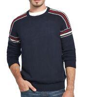 Weatherproof Mens Sweater Blue Size Small S Sleeve Rib Knit Crewneck $60 #032