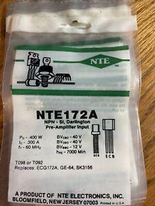 NTE NTE172A T-NPN, Si, Medium Speed Switch