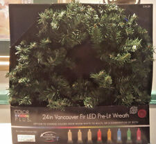"""Color Switch Plus 24"""" Vancouver Fir LED Pre-Lit Wreath ~ Indoor/Outdoor  NEW!!!"""