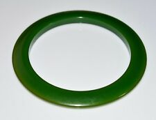 VTG Green BAKELITE TESTED Disc Disk Bangle Bracelet
