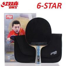 DHS 6 Star Table Tennis Racket Ping Pong Paddle 6002 Shake-hand FL Long Handle