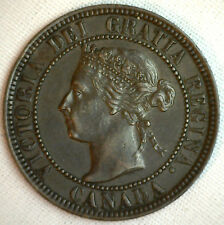 1901 Copper Canadian Large Cent Coin 1-Cent Canada XF #7