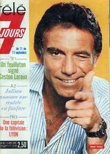 Télé 7 Jours n° 851  Matt Helm, Madeleine Renaud, Jean-Louis Barrault, Guy Béart