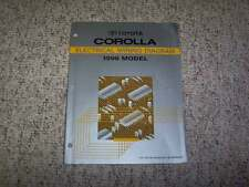 1996 Toyota Corolla Electrical Wiring Diagram Manual DX 1.6L 1.8L 4Cyl